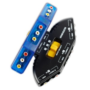 good quality Factory AV SWITCHER AV switch 3 way Superior quality outlets Converter video audio selector for TV AV-33 AV33