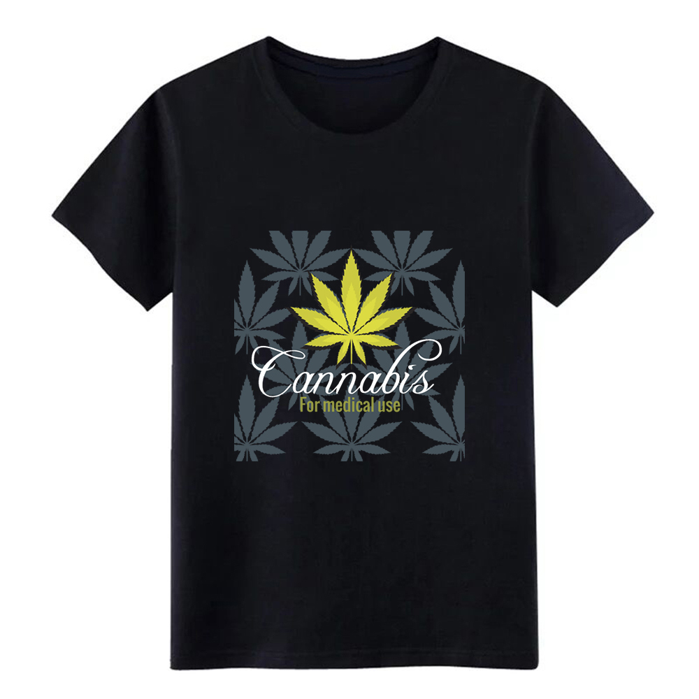 cannabis leaf m edical use label 3 t shirt Customized 100% cotton size S-3xl Clothes Interesting Comfortable Summer Style