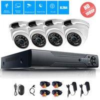4CH CCTV System 1080P HDMI AHD CCTV DVR 4PCS 2 0MP HD IR Night Vision Outdoor