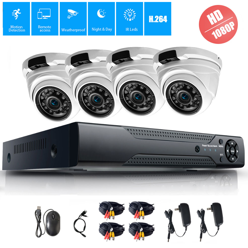 4CH CCTV System 1080P HDMI AHD CCTV DVR 4PCS 2.0MP HD IR Night Vision Outdoor Home Security Camera Surveillance System Kit security camera system hd 4ch cctv system 1080p hdmi ahd dvr 2pcs 720p 1080p ahd cameras cctv ir outdoor surveillance system