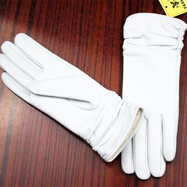 Leather Gloves Sheepskin...