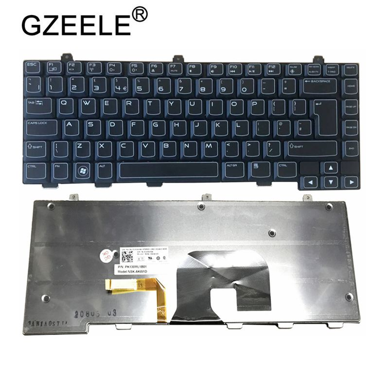 GZEELE New For Alienware M14x R2 R1 PK130ML1A00 NSK-AKV01 0VPP86 US Backlit Keyboard
