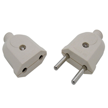 5PCS Butt Plug Socket Eu Adapter Electrical Plug AC Power Connector Cable Cord Female Male Converter Adaptor 10A 250V цена