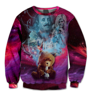 2015 Cute Tedd Bear Crewneck Sweatshirt Fashion 3d Hoodies Men Women Outdoor Tracksuit Men Puls Size