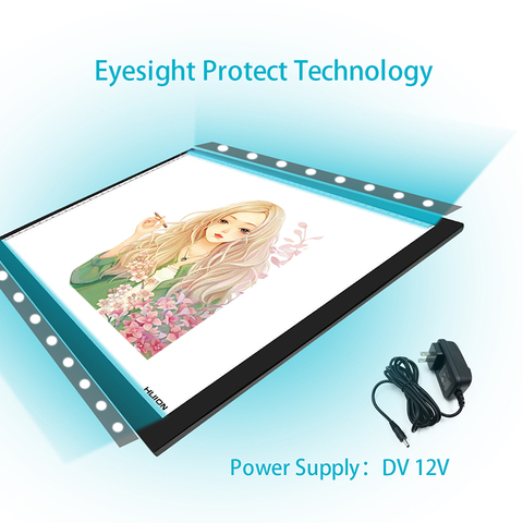 New Huion A3 Led Light Pad Acrylic Panels Professional Tattoo Light Pad Cartooning Light Boxes Handwriting LED Tracing Boards Lahore