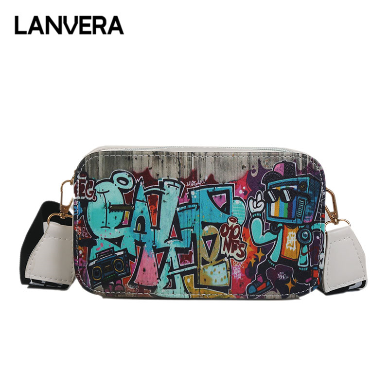 db06e2011b XCZJ 2018 New Hot Sale Hip-hop Transparent Handbag Funny Fashion Trend  Shoulder Bag Letter Printing ...