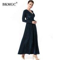 Winter Elegant Dress Women Wine Red Long Sleeve Multiway Convertible Dresses Infinity Wrap Robe Maxi Dress