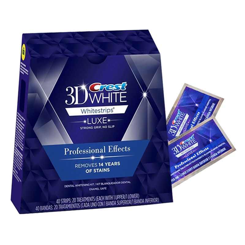 3D White Teeth Whitestrips Luxe Professional Effect 10/20 Treatments Original Oral Hygiene Tooth Teeth Whitening Strips