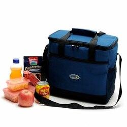 Nova moda 16l grande capacidade portátil isolado saco de almoço saco de piquenique comida térmica para as mulheres dos homens dos miúdos thermo lancheira