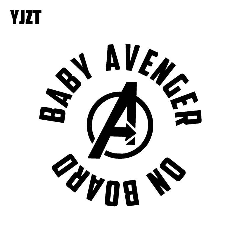 YJZT 13,1 см * 13 см детский Мститель на доске забавная безопасная виниловая наклейка на автомобиль наклейка значок черный серебряный цвет