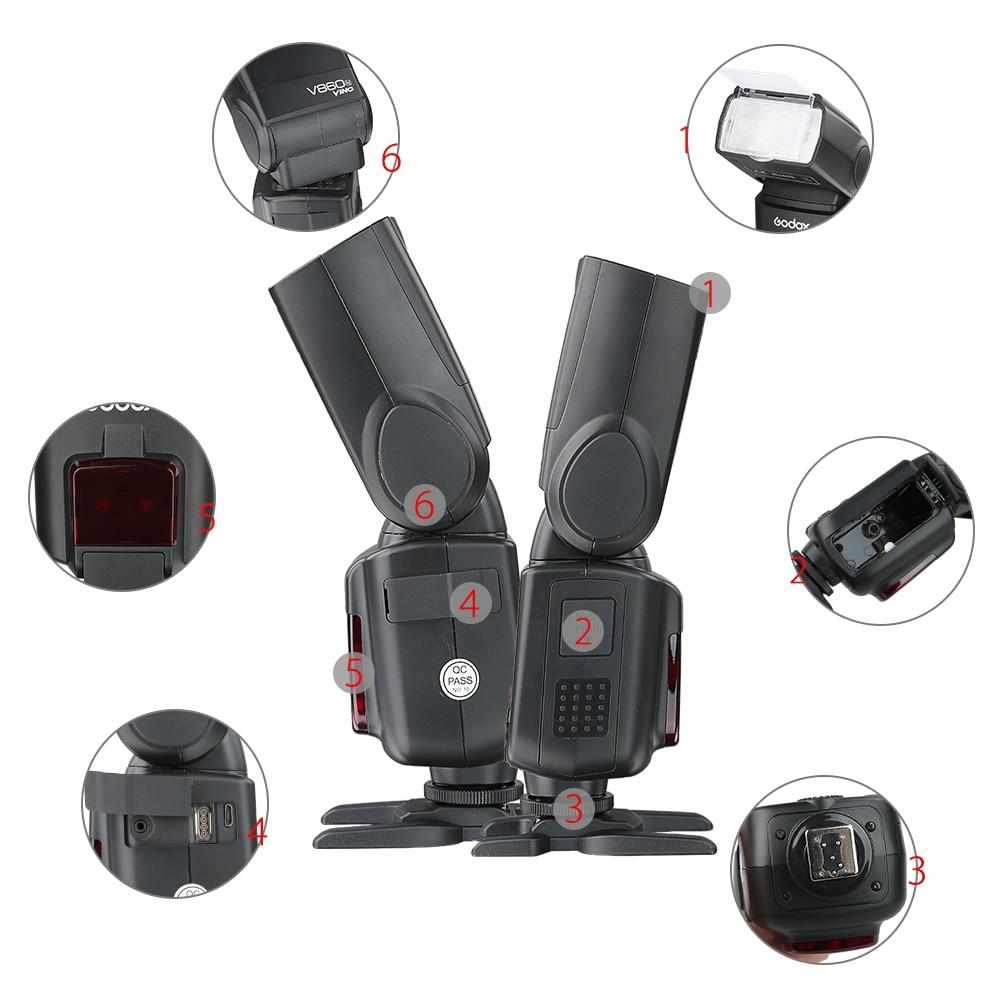 Godox Ving V860C V860 Speedlite Li-ionbatterij Flash-snel E-TTL HSS - Camera en foto - Foto 5