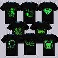 3D Camiseta de Los Hombres/mujeres Amantes Luminosos Camiseta homme Verano Imprimir Tops Luz Fluorescente Personalizada de manga Corta 4xl TTS001