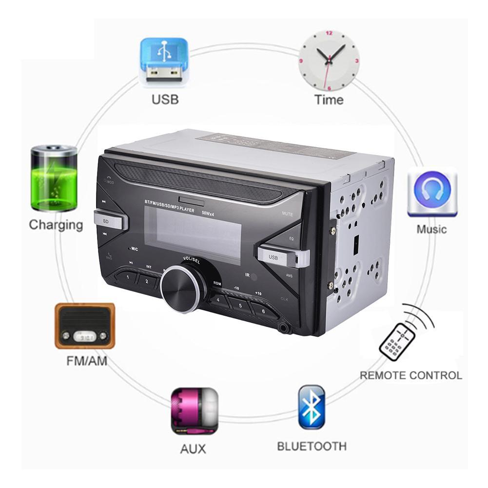 7 couleur rétro-éclairage Bluetooth voiture stéréo Radio FM Aux entrée récepteur USB/SD/MP3 ISO 12 V In-dash 2 din voiture MP3 lecteur multimédia