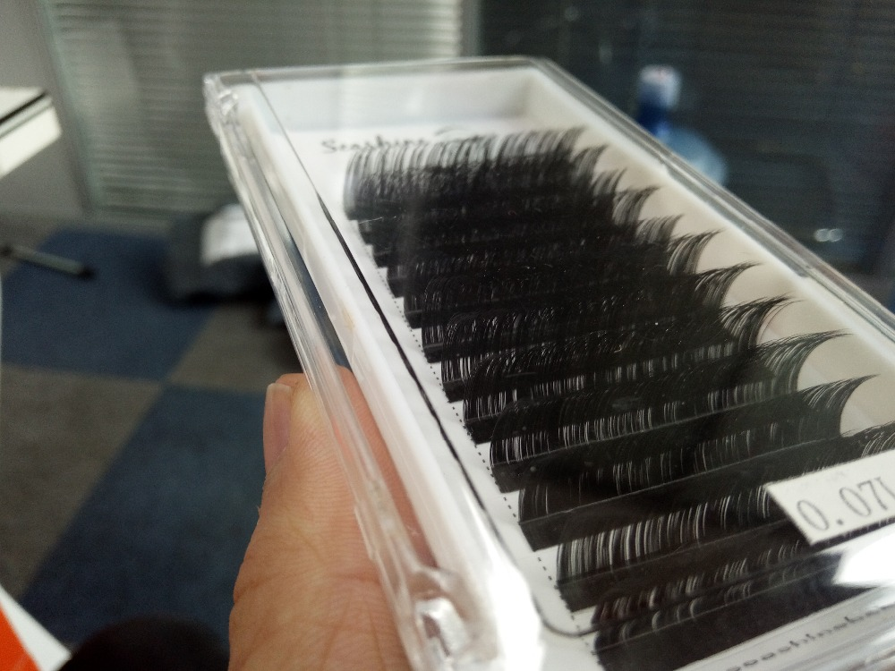 False Eyelashes 0.03mm C/D Curl Individual EyeLashes Extension 8-14mm Mixed Length 100% handmade free shipping