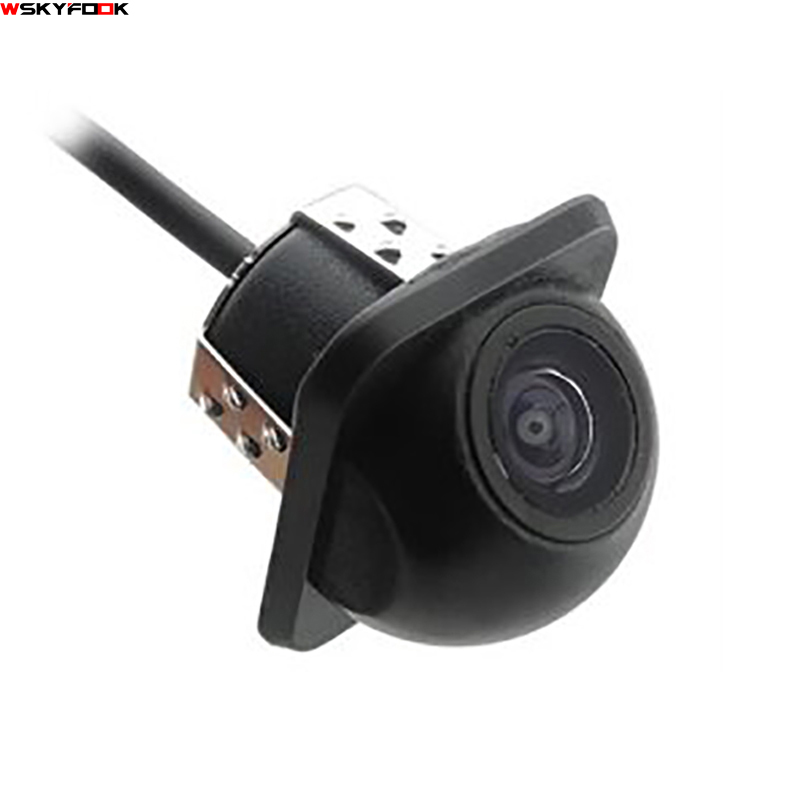 180 derajat CCD HD night vision kamera mobil auto membalikkan tampilan belakang / Tampak depan / Tampak samping kamera untuk kamera Universal tahan air