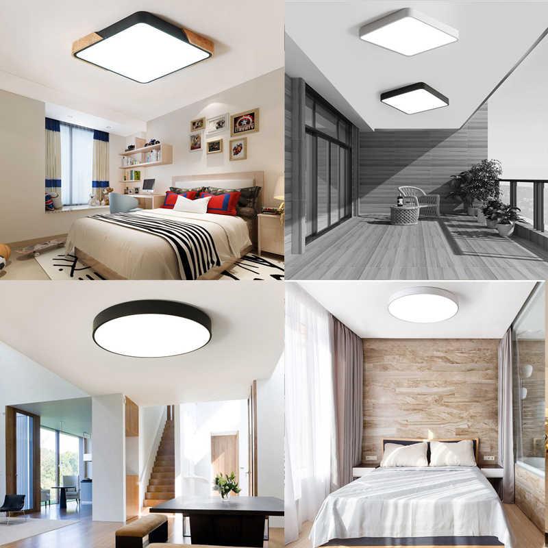 Светодиодный потолочный светильник, современная лампа, панель для гостиной, круглое освещение, приспособление для спальни, кухни, холла, поверхностное крепление, пульт дистанционного управления