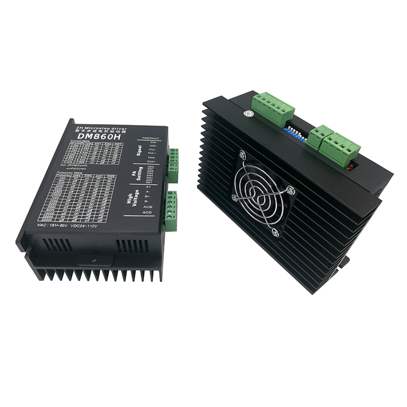 Stepper <font><b>motor</b></font> <font><b>driver</b></font> DM860H microstep <font><b>motor</b></font> brushless <font><b>DC</b></font> <font><b>motor</b></font> shell for 57 86 stepper <font><b>motor</b></font> Nema23 34 image