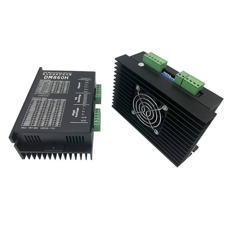 Stepper motor driver DM860H microstep motor brushless DC motor shell for 57 86 stepper motor Nema23 34