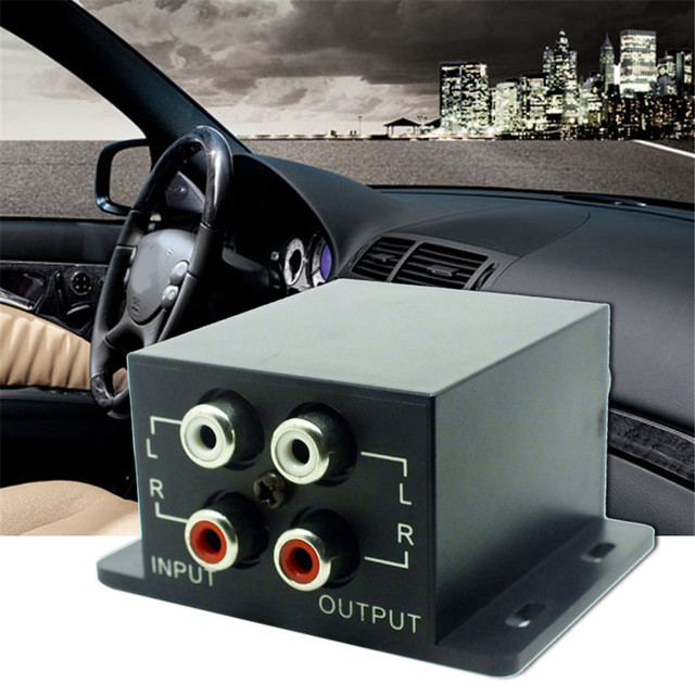 Car Auto Power Amplifier Audio Regulator Bass Subwoofer Equalizer Crossover Controller 4 RCA Adjust Line Level Volume Amplifier 2