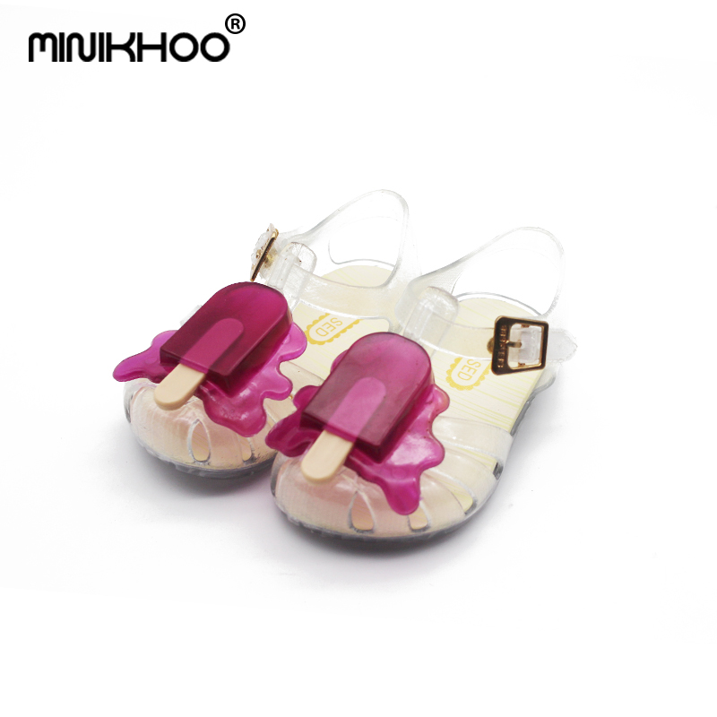 Mini Melissa ARANHA VIII Popsicles Sandals Mini Sed Ice Cream Jelly Sandals Children'S Shoes Infantil 2017 EUR19-31