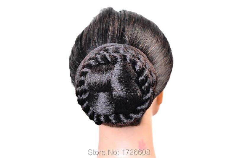 Synthetic Extension Chignon Hair Bun Clip Braid Hairpiece