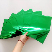 Myfoils 50 sheets A4 green color  hot stamping foil for toner reative label/wedding invitation cards/business cards