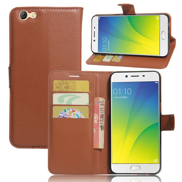 sale retailer 7d139 c1c9b US $4.98  for OPPO F3 CPH1609 Luxuxy Wallet Flip Leather Case for OPPO F3  CPH1609 5.5 inch phone Leather back Cover case with Stand Etui>-in Flip ...
