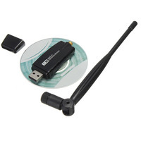 אנטנה עבור 300M USB 2.0 רשת אלחוטית WiFi כרטיס RTL8192 Core 802.11 b / g / n LAN אנטנה מתאם עם אנטנה עבור טלפון נייד PC (1)