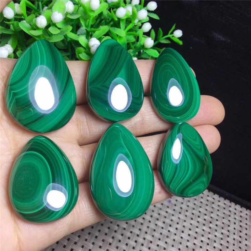 Натуральный природный камень полировка зелёные малахитовые необработанный кварцевый камень кулон для ожерелья 1 шт