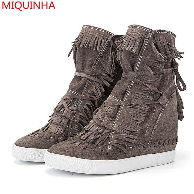 Connu MIQUINHA De Luxe Marque Chaussure Femme Chaussures Laçage Bottes  DF28