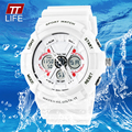 TTLIFE Watch Men Sport Water Resistant 50m Military Rubber Women LED Electronic Army Wrist Watches Ladies White
