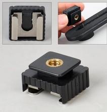 50pcs SC 6 SC6 Cold Hot Shoe Adapter Standard Mount Hotshoe to 1/4 Thread For Flash Speedlite Tripod Photo Studio Accessories