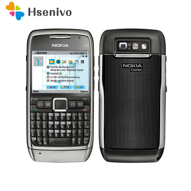 E71 100% Original Nokia E71 Mobile Phone 3G Wifi GPS 5MP Refurbished Cellphone Unlocked E Series Smartphone Russian Keyboard