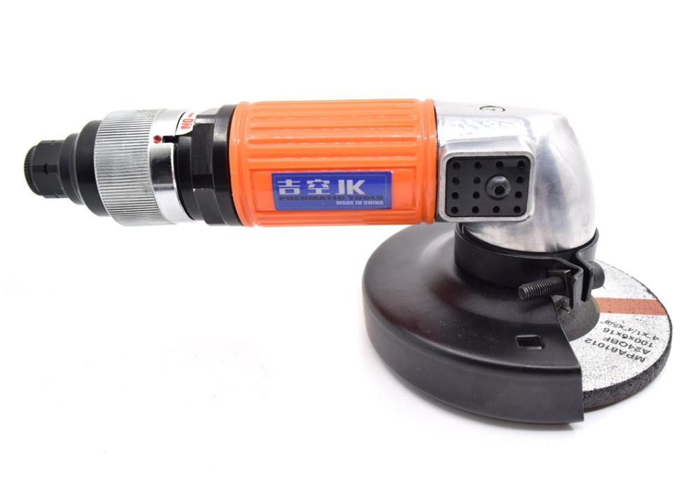 Pneumatic Air Tools Industrial Angle Grinders Swivel 4 Inch 100mm Duty Right Angle Wheel Grinder Tail Rotary Knob Switch