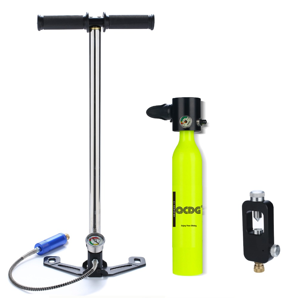 Mini Scuba Oxygen Air Tanks with Pump Adapter for Snorkeling Underwater Breathing Device Small Scuba Diving