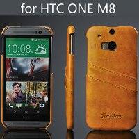Rabatt preis neue für HTC eins m8 leder rückseitige abdeckung öl wachs telefonkasten für htc one m8 kostenloser versand 5 farben mit karte tasche