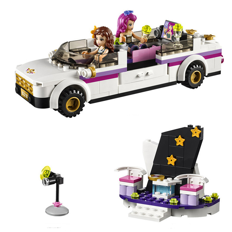 10405 Pop Star Livi Olivia Limo Building Blocks Sets Gift Toys Compatible LegoINGly Friends 41107 for girl gonlei 10407 friends pop star tour bus building blocks sets bricks toys girl game house gift compatible with