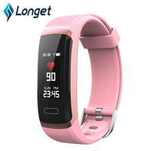 Longet fitness tracker 0.96 Color Screen Smart Bracelet Real-time Heart Rate Monitor Sport watch for IOS & Android Smartphone