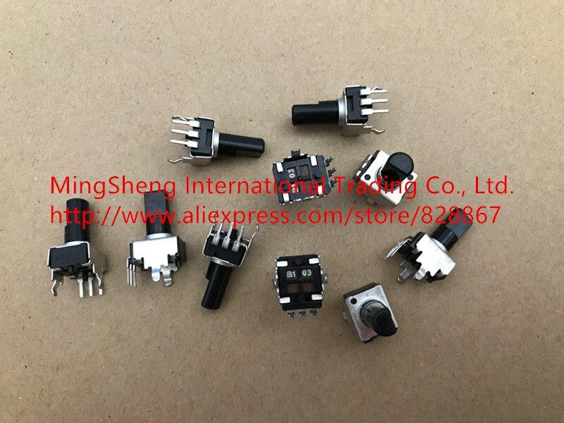 Оригинальный новый 100% RV09 вертикальный регулируемый потенциометр с регулируемым сопротивлением B5K B10K B20K B50K B100K полувал (переключатель)