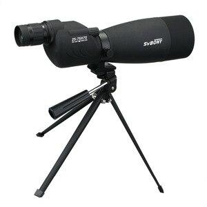 Image 2 - SVBONY zoom telescopio 25 75x70 SV17 telescopio terrestre catalejo impermeable BAK4 prisma FMC telescopio de tubo recto + trípode de escritorio + adaptador F9326