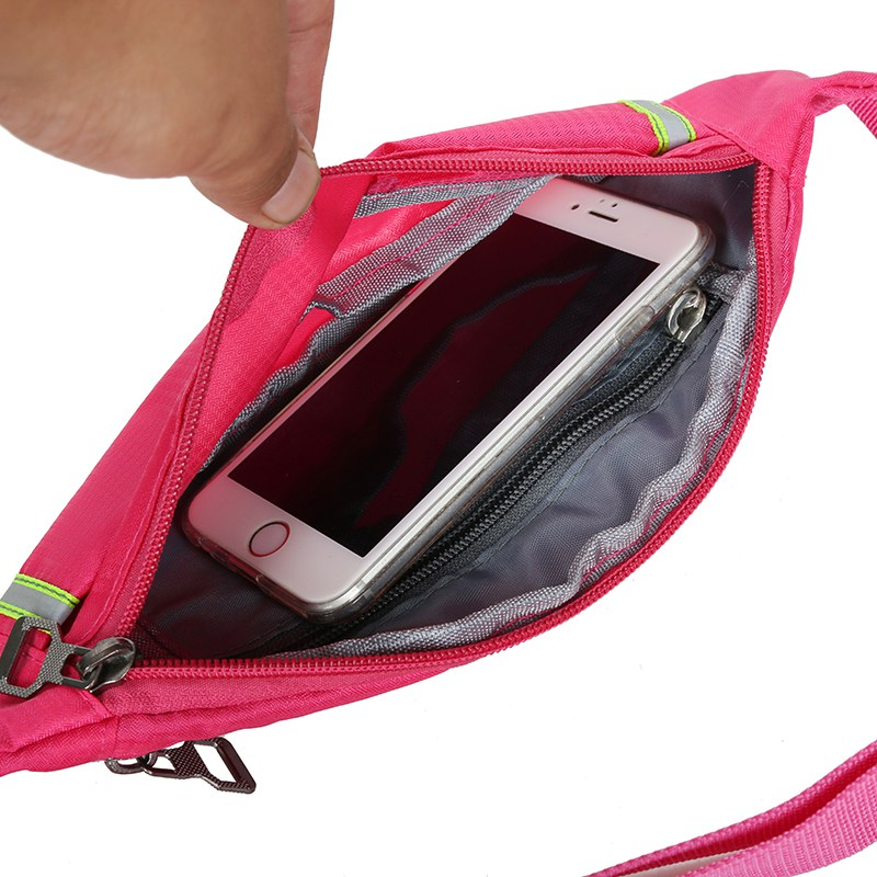 Cycling Running Gym Pouch Wallet Sport Bag Pack Hip Purse Travel Fanny Waist Money Belt Zip Waterproof Bag