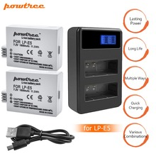 цена на 2x bateria LPE5 LP-E5 LP E5 Battery +Dual Charger for For Canon 450D 500D 1000D Kiss X2 X3 F Rebel XSi Xli XS L15