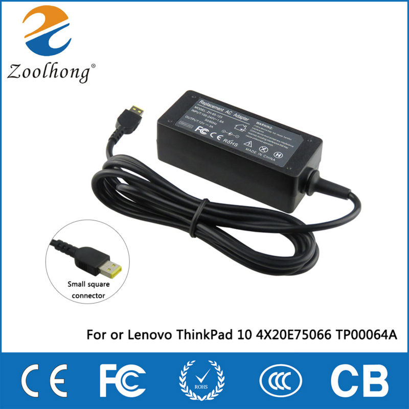 12V 3A 36W laptop AC power adapter charger for Lenovo ThinkPad 10 4X20E75066 TP00064A12V 3A 36W laptop AC power adapter charger for Lenovo ThinkPad 10 4X20E75066 TP00064A