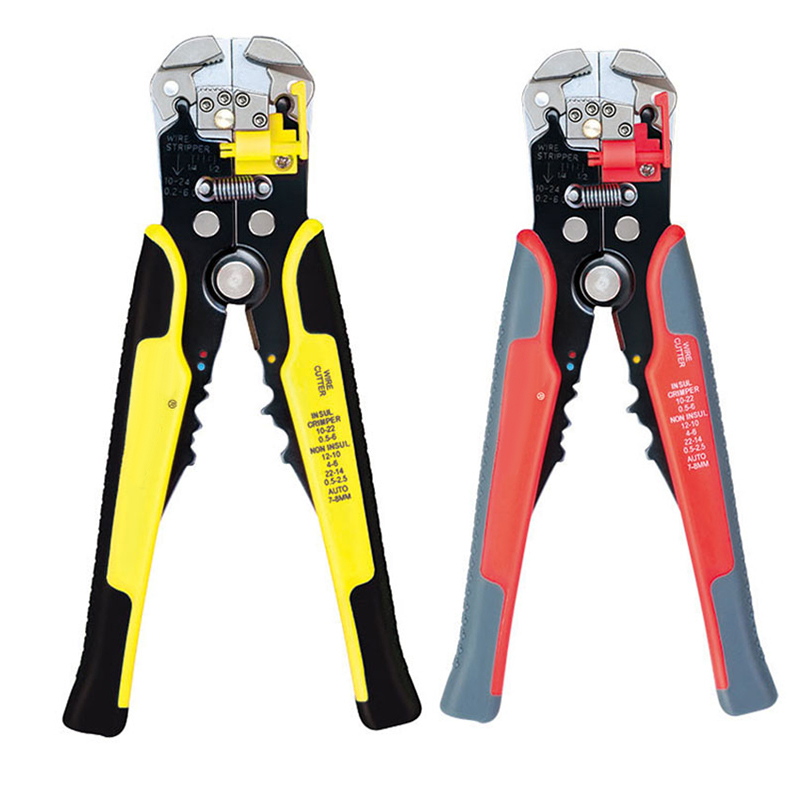 Household Crimping Tools Cutting Multi Tool Pliers Hand Tools For Woodworking Wire Stripping Pliers Self-Adjusting Wire Stripper free shipping multi function 5 in 1 electric needle nose pliers wire stripping cutting wire crimping pliers tools