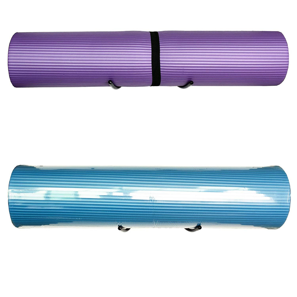 Yoga Mat Wall  Rack Wall Storage Mount Wall Holder Storage Shelf For Foam Rollers And Yoga Mat, Up To 8 Inch Diameter - No Mat
