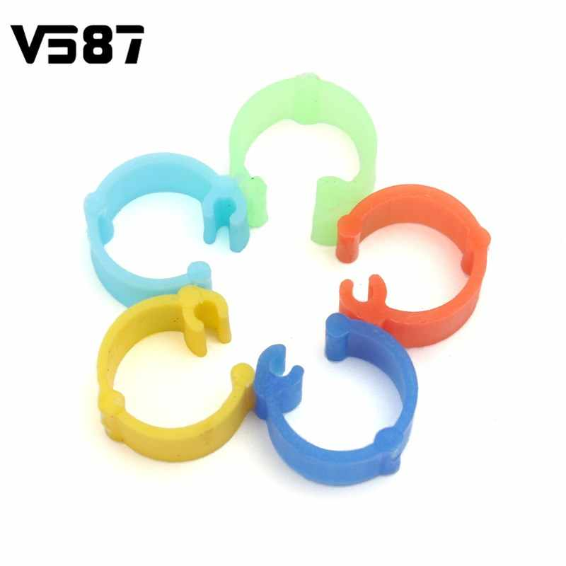 Birds Training Supplies 400PCS/Lot Bird Rings Colorful Leg Bands for Pigeon  Parrot Finch Canary Hatch Poultry Rings
