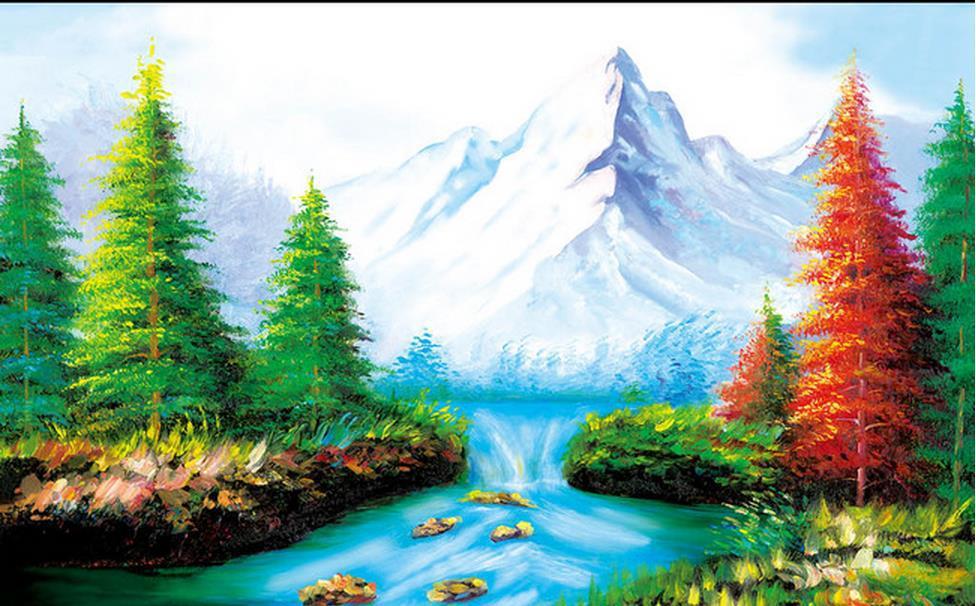 Custom Wallpaper Papel De Parede Hd 3d Landscape Painting Design 3d