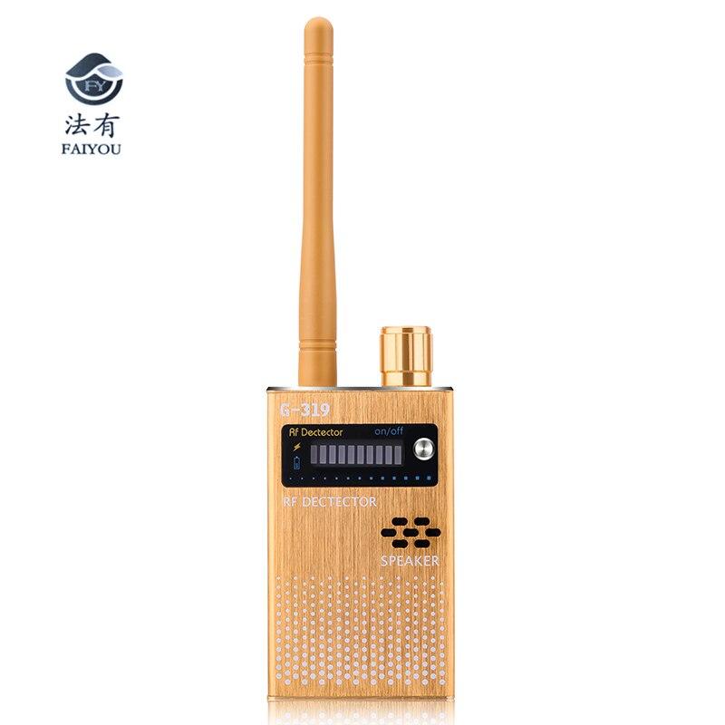 CC319 Scanner sans fil Signal GSM dispositif détecteur RF détecteur Micro onde détection capteur de sécurité alarme Anti-espion Bug détecter