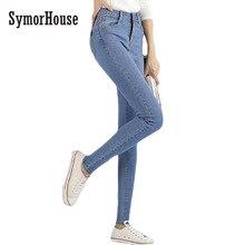 SymorHouse  NEW fashion brand women skinny pencil jeans denim elastic pants washing color good quality women casual jean pants