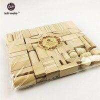 65pc Lot Montessori Wooden Blocks Beads Building Blocks EcoFriendly Blocks Toddler Wooden Toy